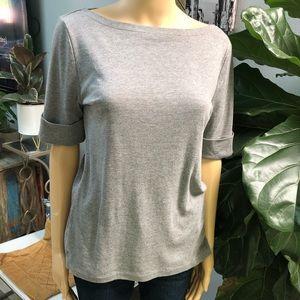Ralph Lauren Gray 1/4 Short Sleeve Top